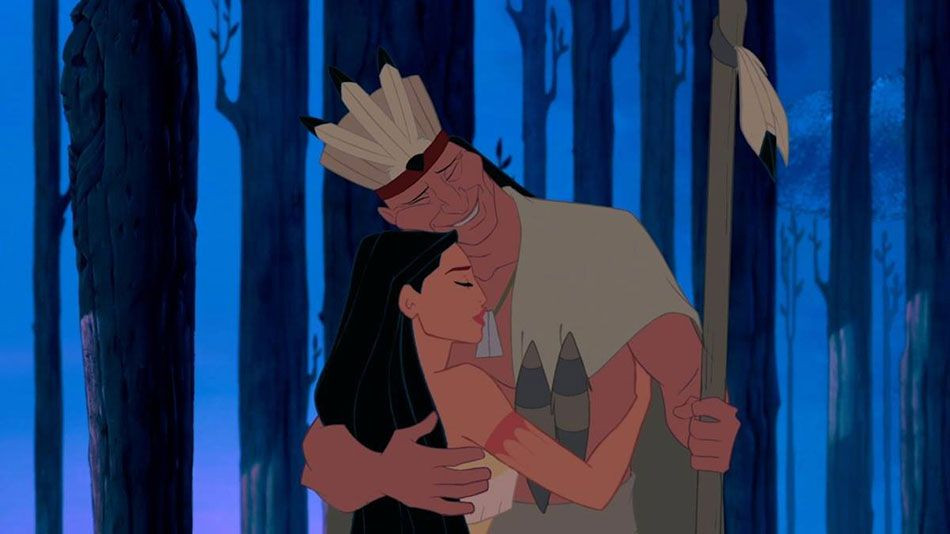 Chief Powhatan with his daughter Pocahontas